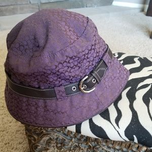 Coach rain hat
